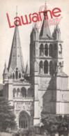 LAUSANNE OUCHY 1946 Beau  Programme Les Fêtes Du Rhône & Le 27e Comptoir Suisse / RARE - Programs