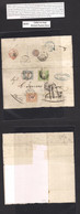 Peru. 1870 (June 26) British Post Office. Callao - Italy, Genova (30 July) E Fkd 1 Dinero Green Good Margins Tied BPO C- - Perù