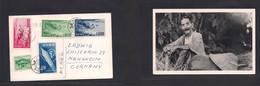 Ryukyu Islands. 1955 (21 May) GPO - Germany, Mannheim. Multifkd Local Photo Ppc. Fine And Scarce. Proper Circulation. - Ryukyu Islands