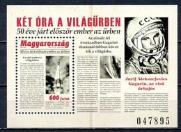 HONGRIE. BF De 2011. Gagarine. - Europa