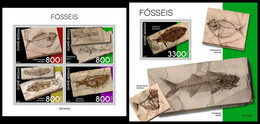 GUINEA BISSAU 2021 - Fossils, M/S + S/S. Official Issue [GB210302] - Guinea-Bissau