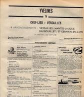 ANNUAIRE - 78 - Département Seine Et Oise - Année 1969 - édition Didot-Bottin - 100 Pages - Elenchi Telefonici