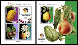 GUINEA BISSAU 2021 - Year Of Fruits, M/S + S/S. Official Issue [GB210304] - Guinea-Bissau