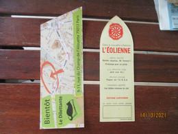 Lot 2 Marque Pages  L Eolienne  Supravox Et  Ldillettante Chat - Segnalibri