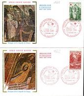 France 1661/62 Fdc Croix-Rouge, Chapelle De Dissay - Croce Rossa