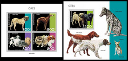 GUINEA BISSAU 2021 - Dogs, M/S + S/S. Official Issue [GB210306] - Guinea-Bissau