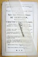 IP. 109. Marie-Anne De Saint-Loup épouse De Meur Le Baron Victor De Séjournet De Rameignies Décédée à Mons - Devotion Images