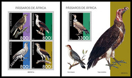 GUINEA BISSAU 2021 - African Birds Of Prey, M/S + S/S. Official Issue [GB210311] - Guinea-Bissau