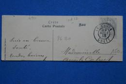 AD6 FRANCE BUREAU FRANCAIS CRETE   SUR GRAND FRAGMENT  1913   LA CANEE ++ AFFRANCH. PLAISANT - Unclassified