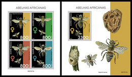 GUINEA BISSAU 2021 - African Bees, M/S + S/S. Official Issue [GB210313] - Guinea-Bissau