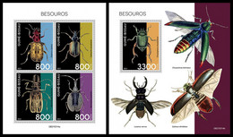 GUINEA BISSAU 2021 - Beetles, M/S + S/S. Official Issue [GB210314] - Guinea-Bissau