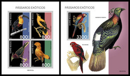 GUINEA BISSAU 2021 - Exotic Birds, M/S + S/S. Official Issue [GB210312] - Guinea-Bissau