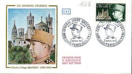 France 1668 Fdc Général Diego Brosset - Seconda Guerra Mondiale