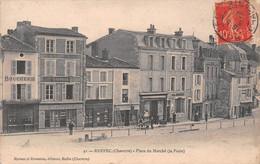 RUFFEC - Place Du Marché (la Poste) - Boucherie, Chambon, H. Aupetit - Ruffec