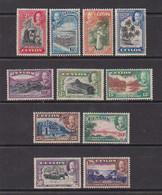 CEYLON    1938    King  George  V    Set  Of  11    MH - Ceylon (...-1947)