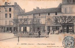 RUFFEC - Place D'Armes (côté Ouest) - Café De La Comédie, Delaunay-Chauveau - Ruffec