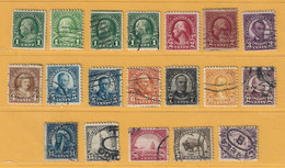 Timbre Etats-Unis N° 228 -  229 - 230 - 231 - 232 - 232B - 233 - 234 - 237 - 239 - 240 - 241 - 242 - 244 - 245 - Used Stamps
