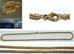 COLLIER EN OR 18K MAILLE PALMIER - Halsketten