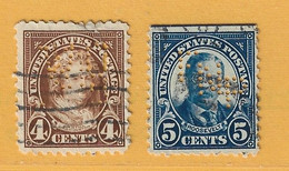Timbre Etats-Unis N° 231 - 232 Perforation - Used Stamps