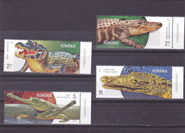 Romania 2020 / Crocodiles / Set 4 Stamps, MNH. - Non Classificati
