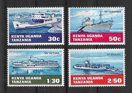 Ostafrikanische Gemeinschaft 1969 Schiffe Mi.Nr. 181/84 Kpl. Satz ** - Kenya, Uganda & Tanzania
