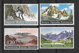 Ostafrikanische Gemeinschaft 1968 Berge Mi.Nr. 169/72 Kpl. Satz ** - Kenya, Uganda & Tanzania