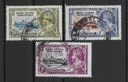 Ostafrikanische Gemeinschaft 1935 Mi.Nr. 45/46/48 Gestempelt - Kenya, Uganda & Tanganyika