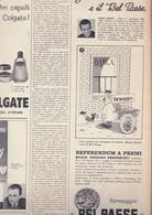 (pagine-pages)PUBBLICITA' BELPAESE(+HANS QUIST)   Oggi1958/35. - Altri