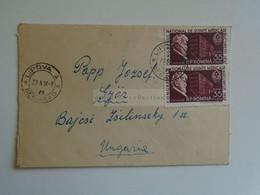 D184895  Romania  Small Cover   - Cancel  1957 Lipova Lippa -A  Sent To Hungary - Cartas