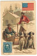 SUR PETITE CARTE,TIMBRE D'UN CENT-1908-2 SCANS-LA POSTE AUX ETATS-UNIS- - Varietà, Errori & Curiosità