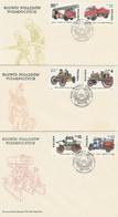 Poland FDC.2813-18 #3: Fire Vehicles - FDC
