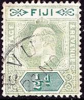 FIJI 1904 KGV ½d Green & Pale Green SG115 Used - Fiji (...-1970)