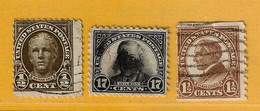 Timbre Etats-Unis N° 256 - 258 - 259d - Used Stamps