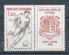 Andorre N°302** Football (avec Vignette) - Ungebraucht