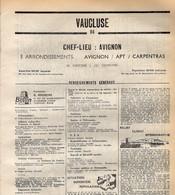ANNUAIRE - 84 - Département Vaucluse - Année 1969 - édition Didot-Bottin - 124 Pages - Elenchi Telefonici