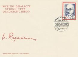 Poland FDC.2820: Democratic Party - Wincenty Rzymowski - FDC