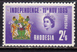 RHODESIA RODESIA 1965 DECLARATION OF INDEPENDENCE DICHIARAZIONE D'INDIPENDENZA 2sh 6p MNH - Rhodesia (1964-1980)