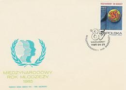 Poland FDC.2821: International Youth Year - FDC