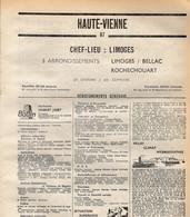 ANNUAIRE - 87 - Département Haute Vienne - Année 1969 - édition Didot-Bottin - 136 Pages - Elenchi Telefonici
