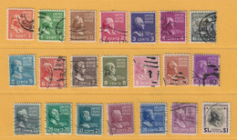 Timbre Etats-Unis N° 368 - 69 - 70 - 71 - 72 - 73 - 74 - 75 - 76 - 77 - 78 - 79 - 80 - 82 - 85 - 90 - 91 - 94 - 96 - 97 - Used Stamps