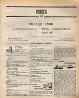 ANNUAIRE - 88 - Département Vosges - Année 1969 - édition Didot-Bottin - 128 Pages - Elenchi Telefonici