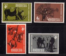 RHODESIA RODESIA 1967 NATURE CONSERVATION CONSERVAZIONE NATURA COMPLETE SET SERIE COMPLETA  MNH - Rhodesia (1964-1980)