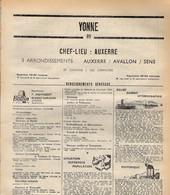 ANNUAIRE - 89 - Département Yonne - Année 1969 - édition Didot-Bottin - 126 Pages - Elenchi Telefonici