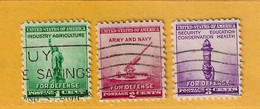 Timbre Etats-Unis N° 451 - 452 - 453 - Used Stamps