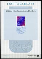 "Germany, Allemagne 2021 ETB 11/2021,Mi.Nr.3599 ""50 Jahre -Radioteleskop Effelberg ""1 ETB Used - Telecom"