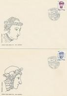 Poland FDC.2838-39 #2: Wawel Heads (IV) - FDC