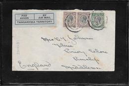 Tanganika 1931, Multifranked Cover From DarEsSalam To England Via Mwanza (ref 1002a) - Tanganyika (...-1932)