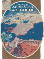 LIGNES AERIENNES LATECOERE - DOCUMENT DANS L'ETAT - Advertising