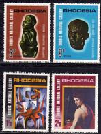 RHODESIA RODESIA 1967 RHODES NATIONAL GALLERY SALISBURY COMPLETE SET SERIE COMPLETA MNH - Rhodesia (1964-1980)