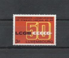 Lussemburgo - 1971 - Cristianesimo - Cinquantenario Sindacati Cristiani - Nuovo ** - (FDC32378) - Cristianesimo